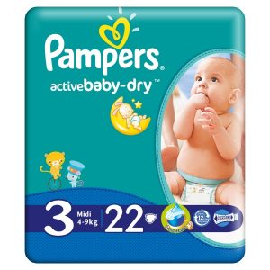 Pampers - Scutece 3 Active Baby 4-9Kg (22)Buc