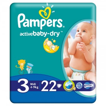 Pampers – Scutece 3 Active Baby 4-9Kg (22)Buc 1