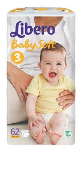Libero - Baby Soft 62P 4-9 Kg