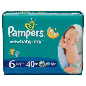 Scutece Pampers Active Baby-Dry 40 bucati 6 Extra Large 15Kg