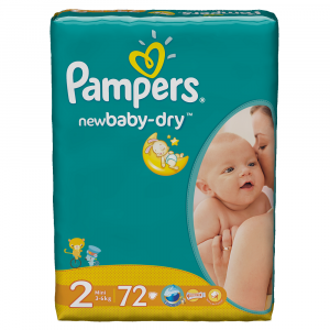 Scutece Pampers New Baby-Dry 72 bucati 2 Mini 3-6Kg