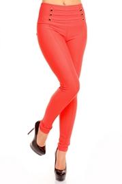 Pantaloni Coral cu Talie Inalta Zoey