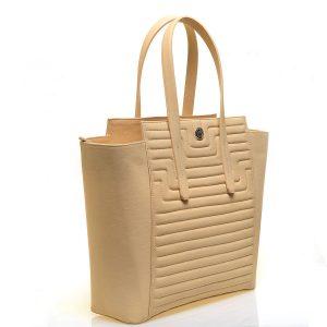 Promotie Geanta mare de mana din piele naturala de dama YVY BAGS cu model