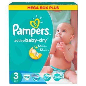 Promotie Scutece Pampers Active Baby 3