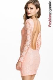 Rochie Scurta din Dantela Pink Candy