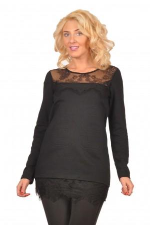 Bluza neagra cu dantela 981N