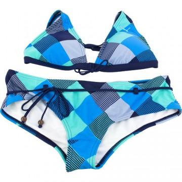 Costum de baie femei Puma Jam Check Halterneck Bikini 81942401 1