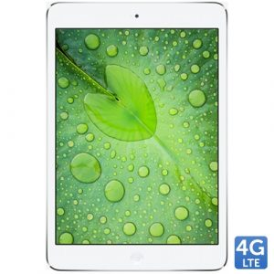 Promotie Tableta Apple iPad Mini White 4G/LTE 32GB, Chip A7, Retina display 7.9 inch, iOS 7