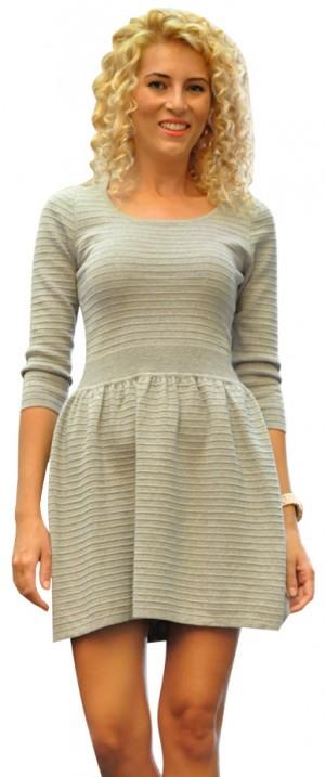 Rochie pulover gri 66076