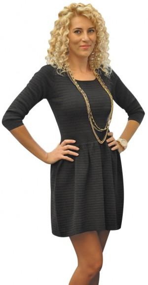 Rochie pulover neagra 66076N