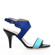 Oferta promotionala Sandale cu toc de dama ELLE, Turcoaz