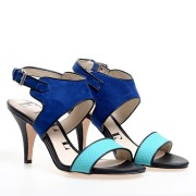Reducere la Sandale cu toc de dama ELLE, Turcoaz