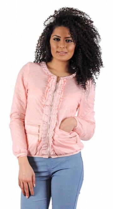 Jacheta roz cu fermoare 5556R 1