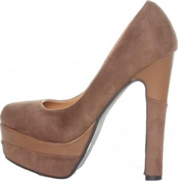 Pantofi Ana Lublin Kaki OR121 1