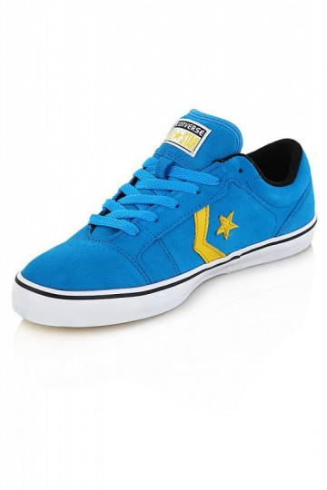 Pantofi Sport din piele Converse Albastri Badge 1