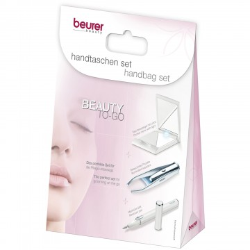 Set Beurer Beauty-to-go: Oglinda, Creion manichiura si Penseta cu LED 1