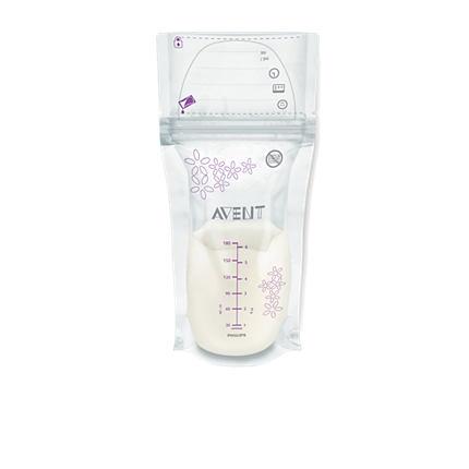 Pungute pentru stocarea laptelui matern Avent 25 buc SCF603/25