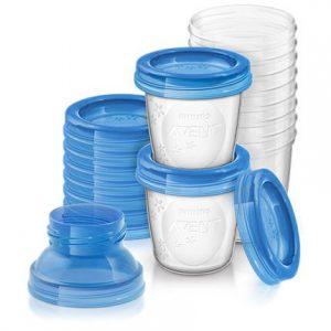 Recipiente pentru stocarea laptelui matern Avent SCF618/10