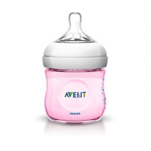 Biberon Avent Natural 125ml Roz SCF691/17