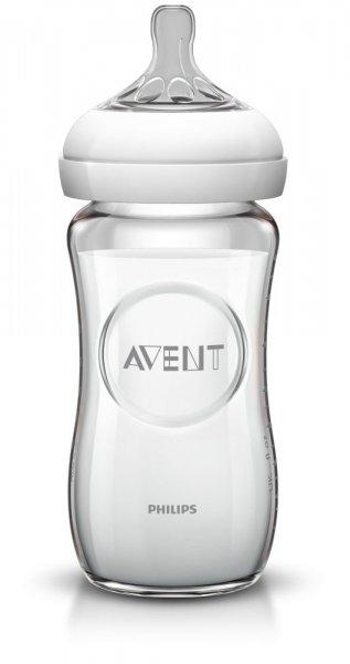 Biberon sticla pura Avent Natural 240ml SCF673/17