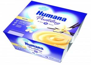 Budinca cu vanilie Humana, 10+ luni, 4 x 100g