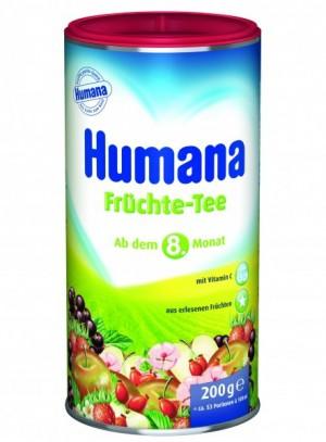 Ceai de fructe Humana, 8+ luni, 200g