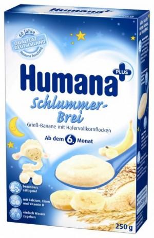 Cereale de noapte Humana, 6+ luni, 250g