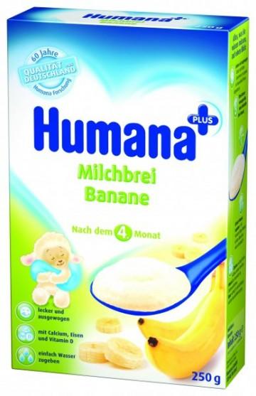 Cereale Humana cu banane, 4+ luni, 250g 1