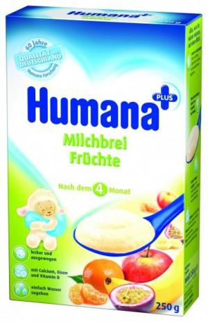 Cereale Humana cu fructe, 4+ luni, 250g