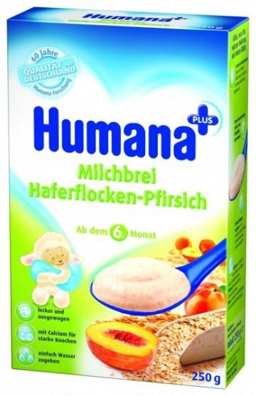 Cereale Humana cu fulgi de ovaz si piersici, 6+ luni, 250g 1