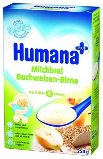 Cereale Humana cu hrisca si pere, 4+ luni, 250g 1