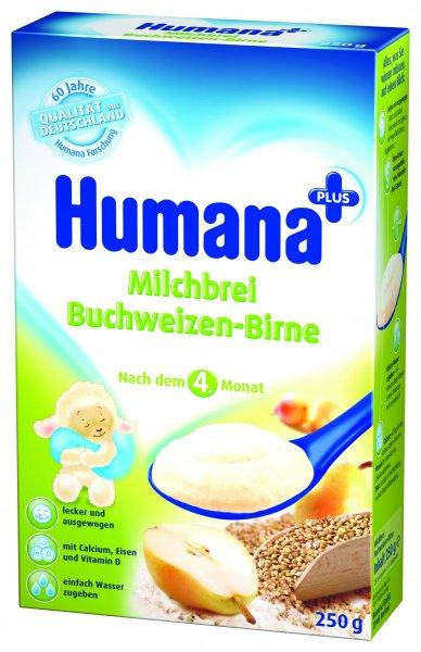 Cereale Humana cu hrisca si pere, 4+ luni, 250g