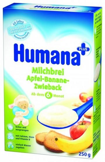 Cereale Humana cu mar, banane si pesmet, 6+ luni, 250g 1