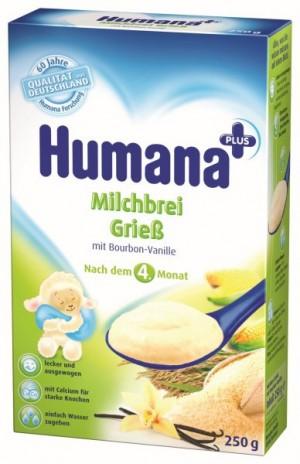 Cereale Humana cu vanilie, 4+ luni, 250g