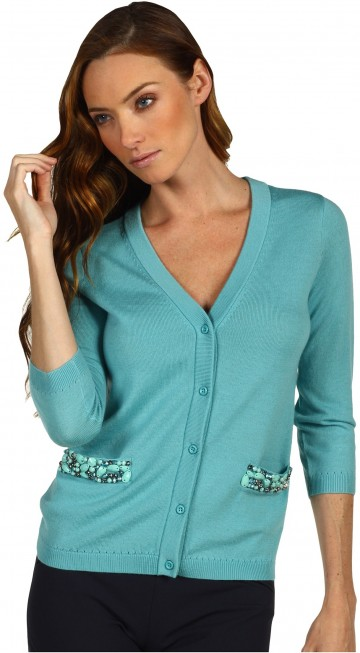 Kate Spade New York Hilda Cardigan With Embellishment****** Dusty Turquoise 1