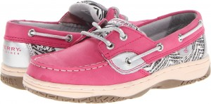 Sperry Top-Sider Kids Bluefish (Little Kid/Big Kid)****** Hot Pink/Black & White Zebra