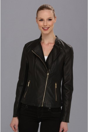 Calvin Klein Moto Faux Leather Jacket****** Black
