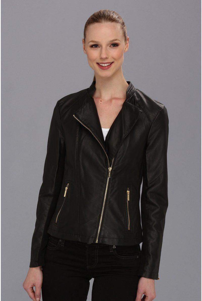 Calvin Klein Moto Faux Leather Jacket****** Black