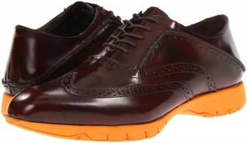 Hush Puppies FIVE-Brogue****** Brown Brush Off Leather 1