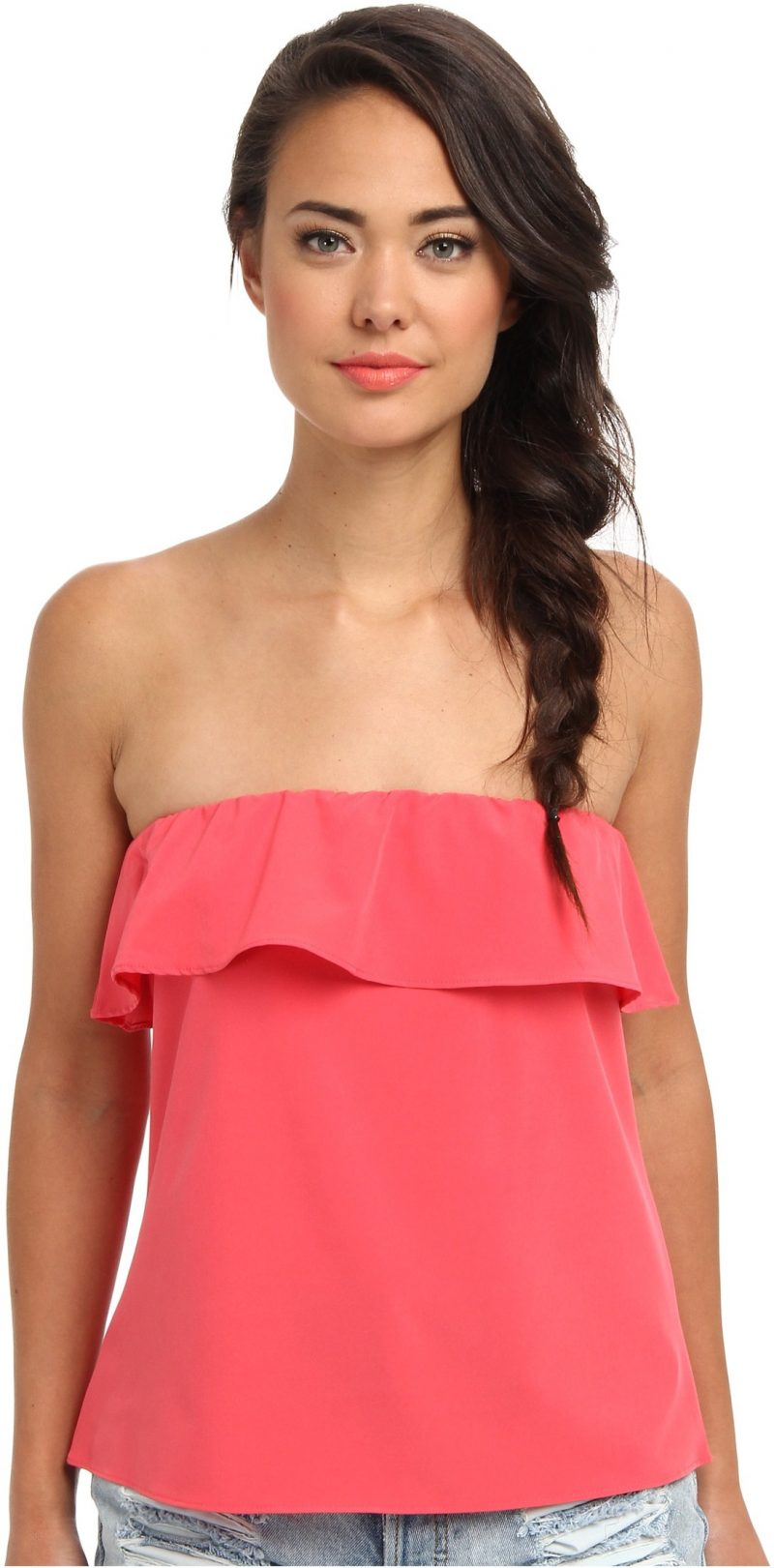Lucy Love Bungalow Bando Top****** Persimmon