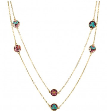 Vera Bradley Dainty Chain Necklace****** Flutterby 1