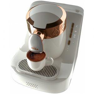 Cafetiera Arzum Okka, Putere 710W, Capacitate rezervor apa 950 ml, Alb