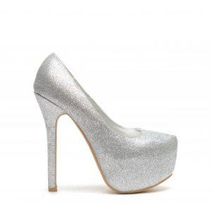 Pantofi Guvra Argintii