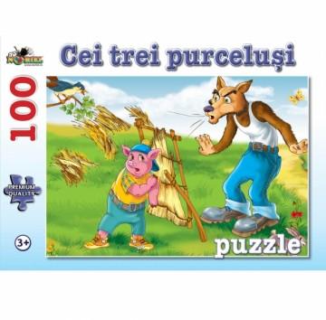 Puzzle NORIEL Cei trei purcelusi 100 piese 1