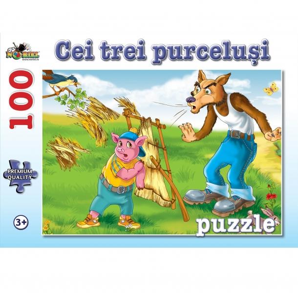 Puzzle NORIEL Cei trei purcelusi 100 piese