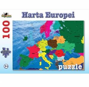Puzzle NORIEL Harta Europei 100 piese