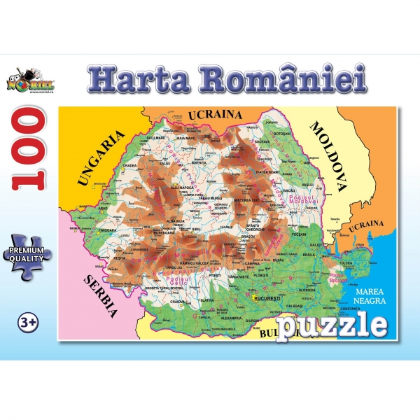 Puzzle NORIEL Harta Romaniei 100 piese