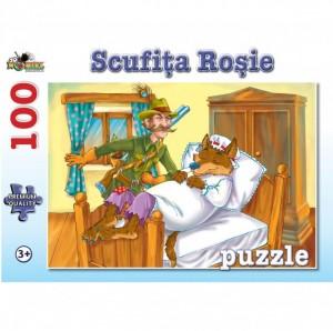 Puzzle NORIEL Scufita Rosie 100 piese