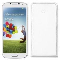 Celly Husa Flip Face Alb Samsung Galaxy S4
