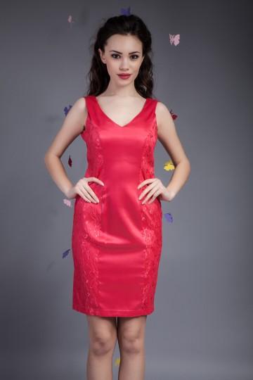 Rochie Fine Lace Corai 1